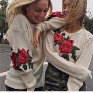 LF Furst of a kind waffle rose long shirt